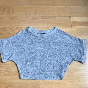 Bebe sweater gray batwing petite small